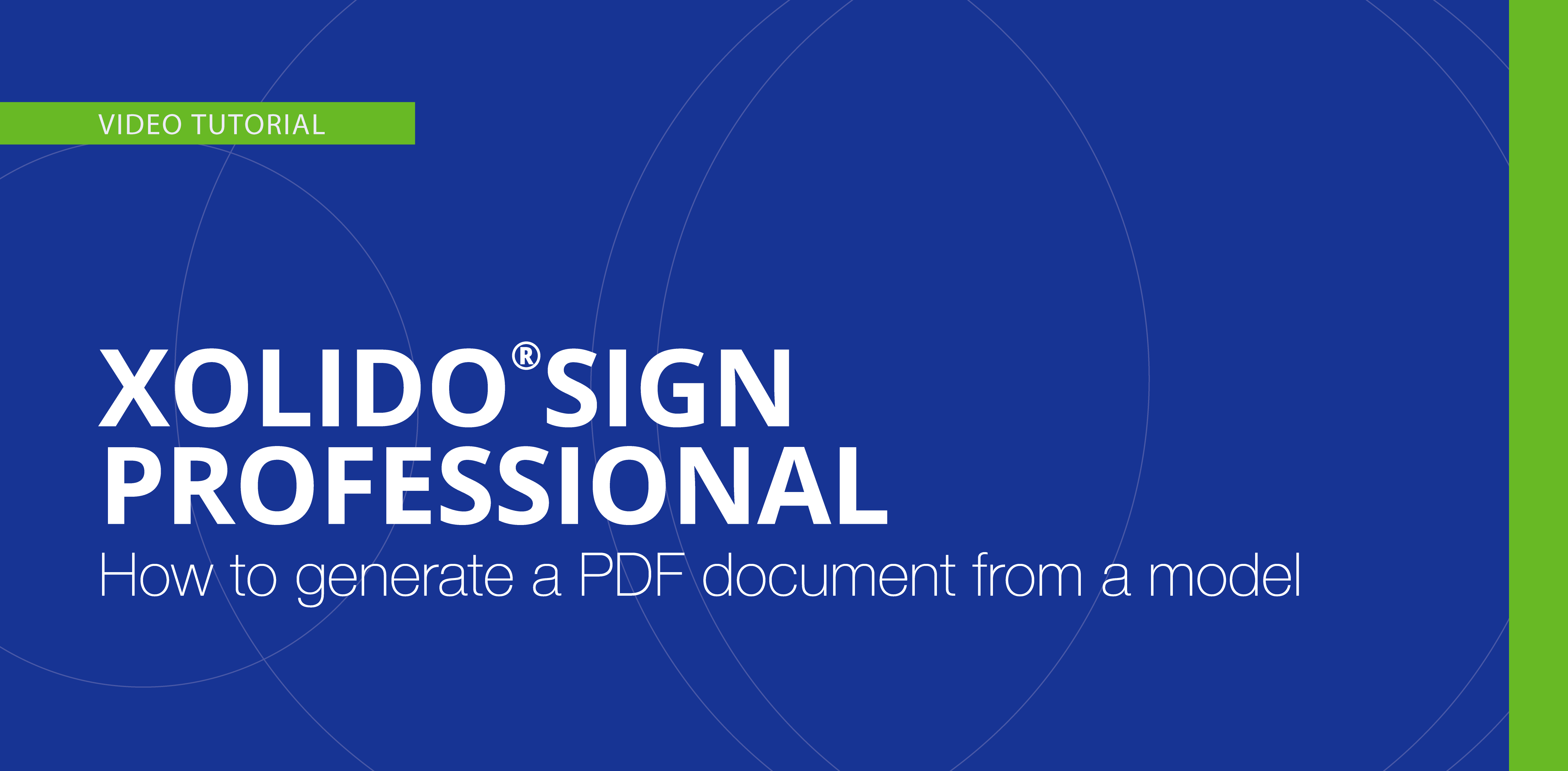 How to generate a PDF document from a model
