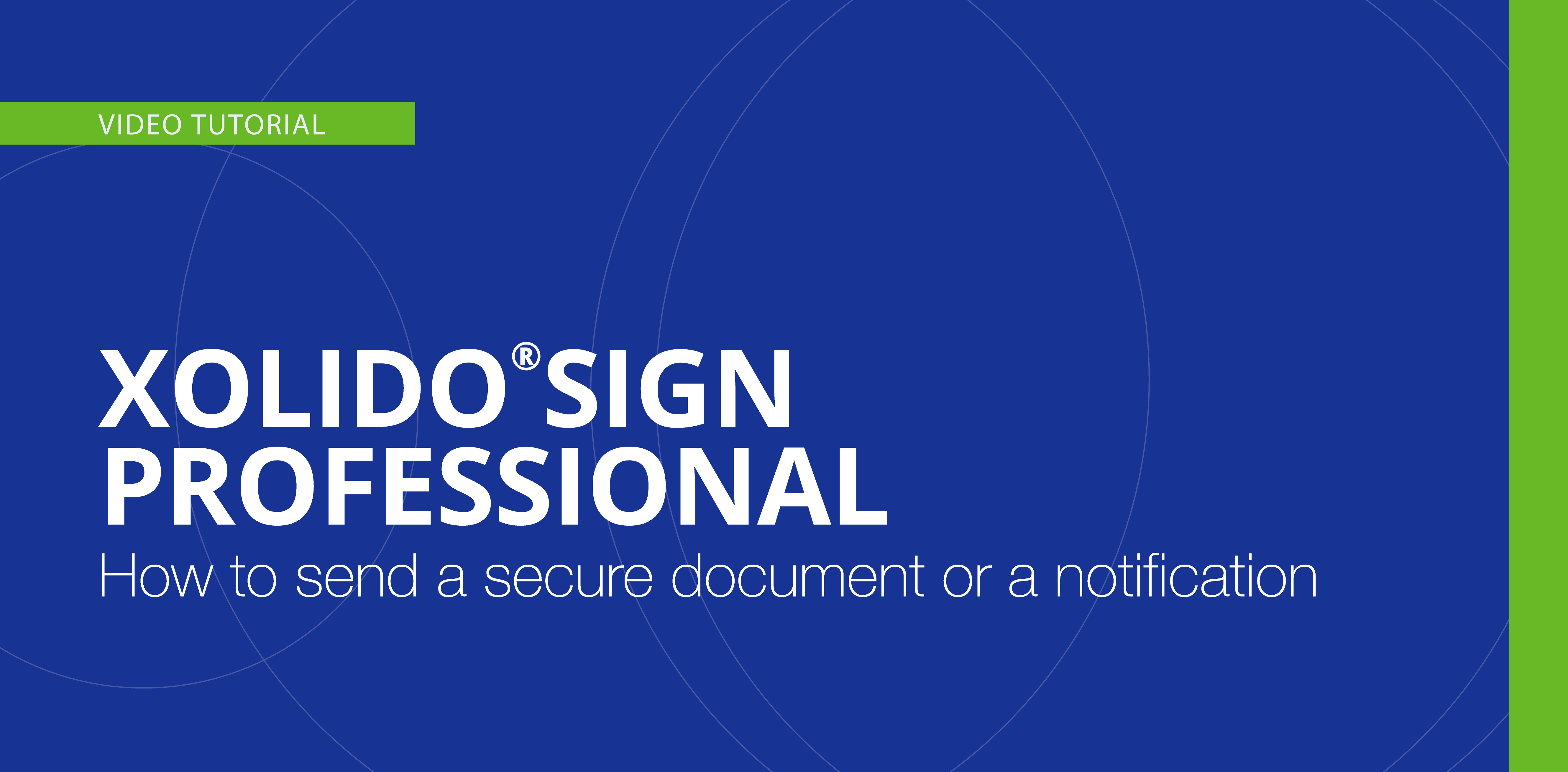 How to send a secure delivery and access of documents or a notification