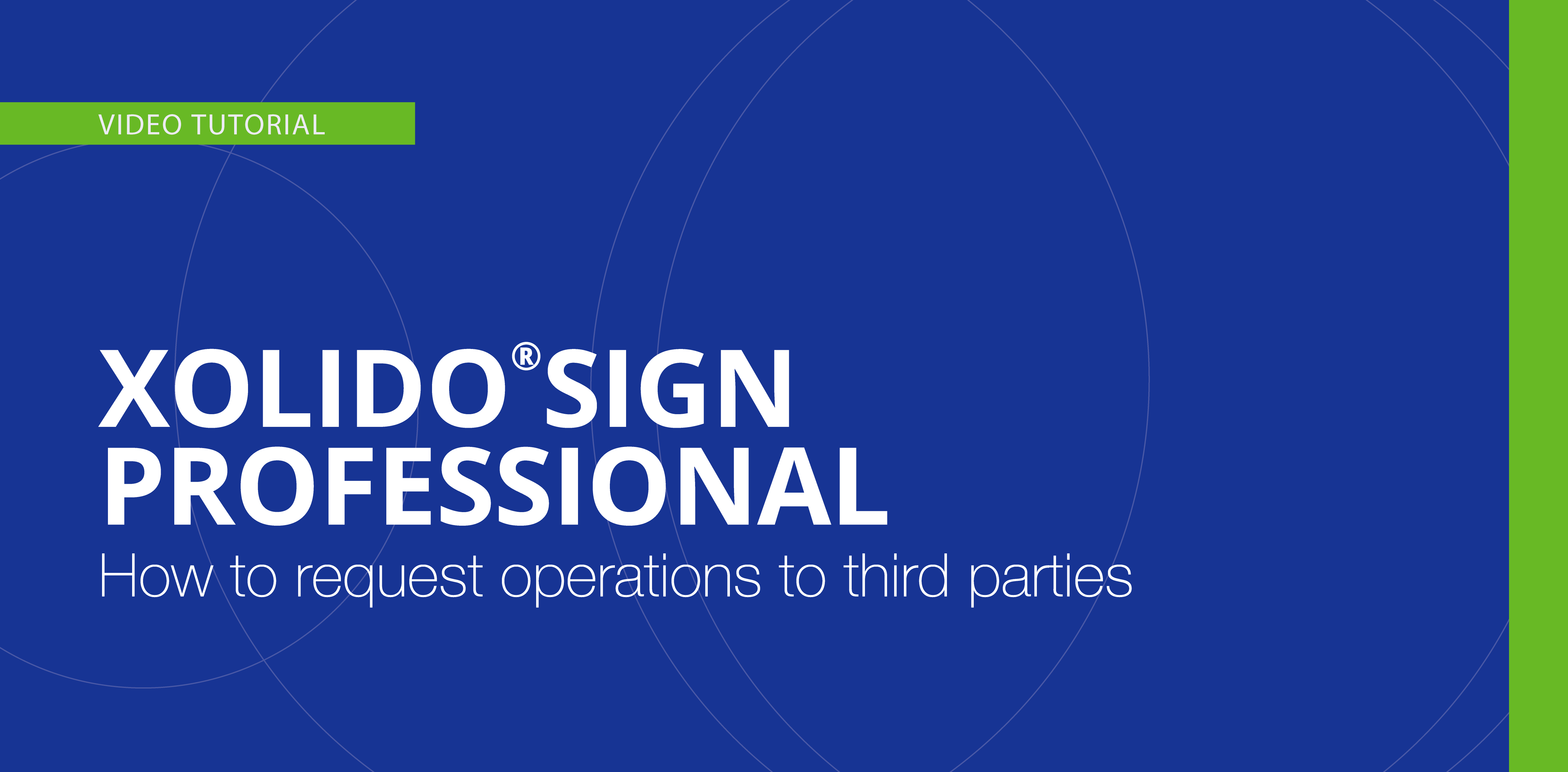 How to request operations to third parties