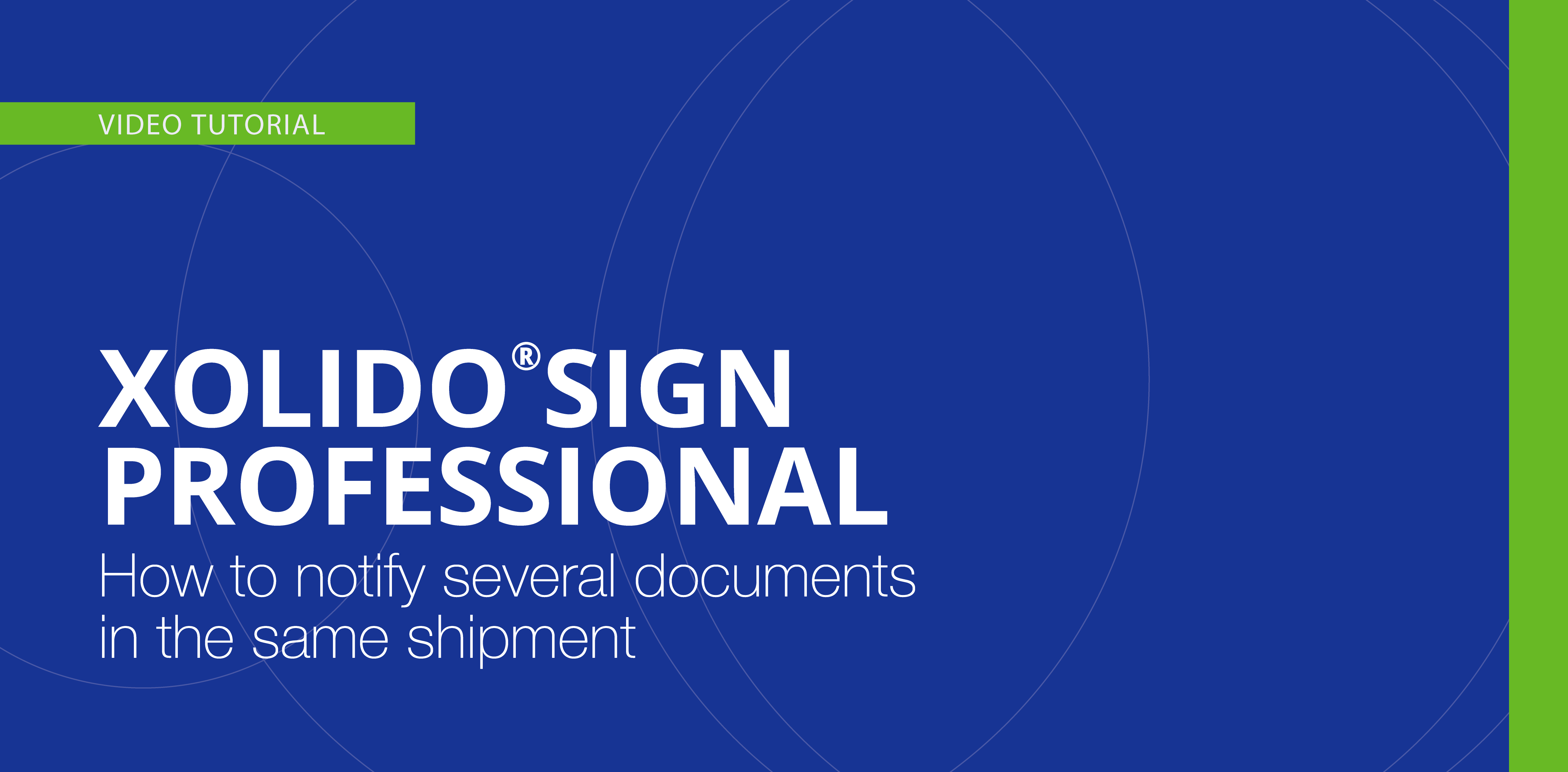 How to notify several documents in the same shipment