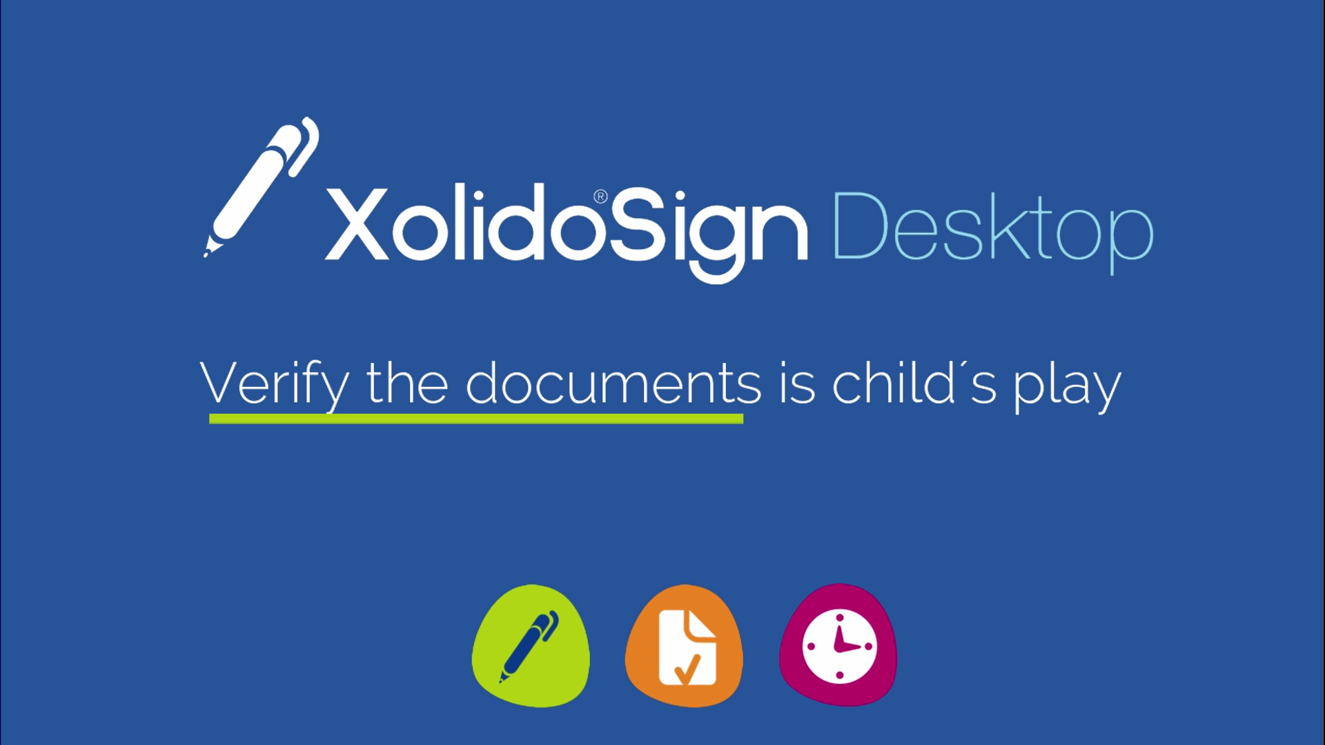 Verification of documents with Xolido®Sign Desktop