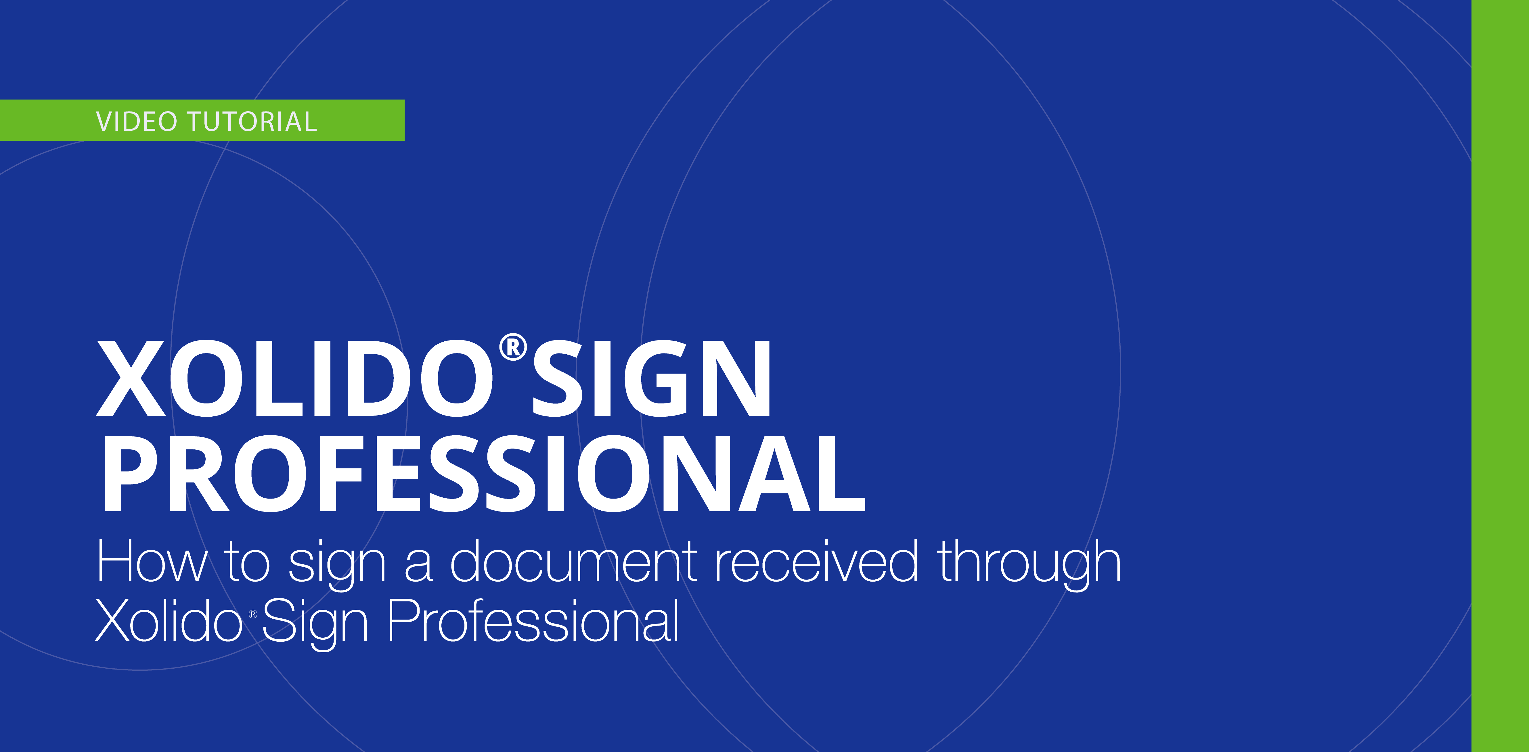 How to sign a document received through Xolido®Sign Professional