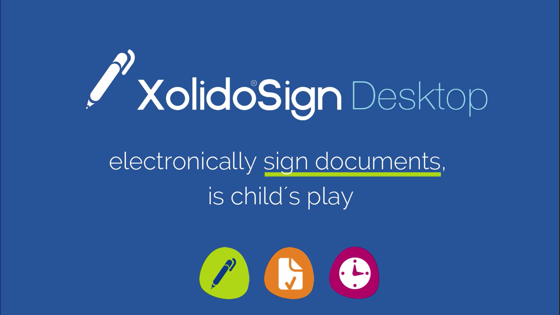 Signing electronic documents Xolido®Sign Desktop
