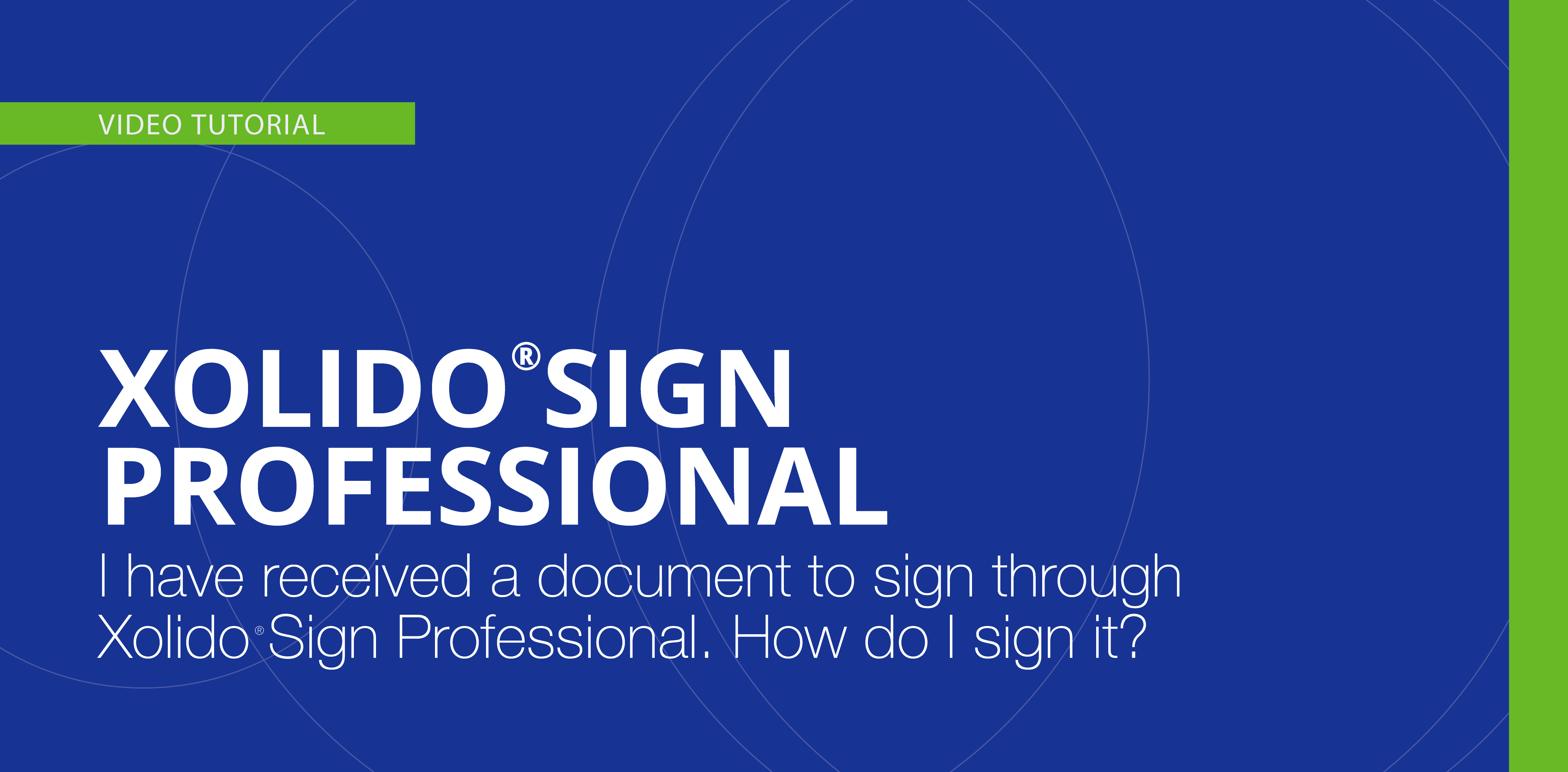 I have received a document to sign through Xolido®Sign Professional