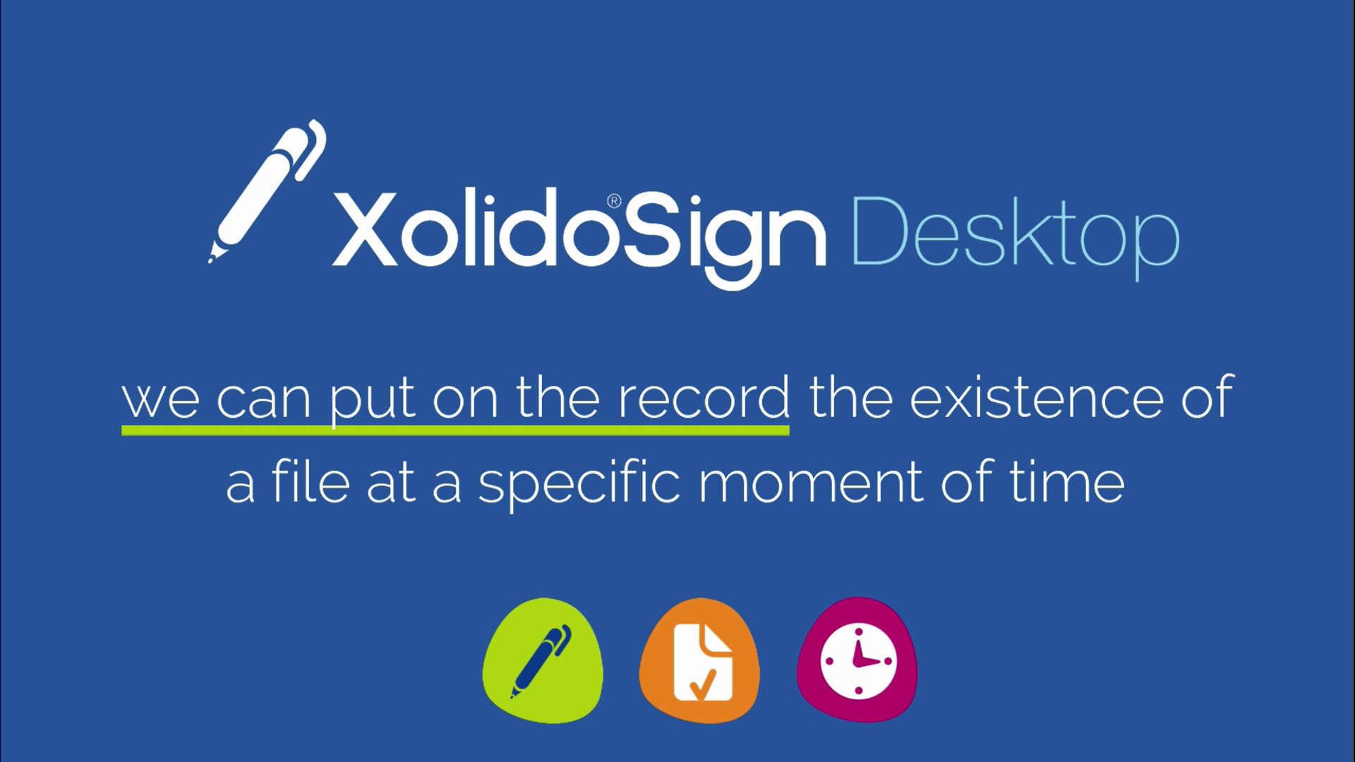 Recognized time-stamp with Xolido®Sign Desktop