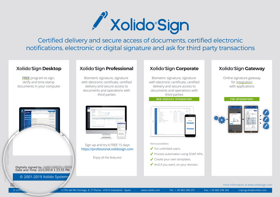 Xolido®Sign Desktop - Visible signature mark on your PDF documents