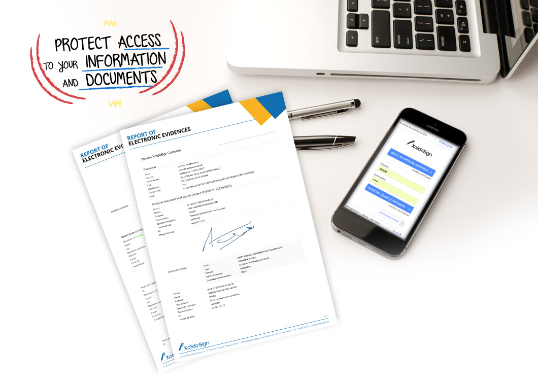 Protect access to your information and documents