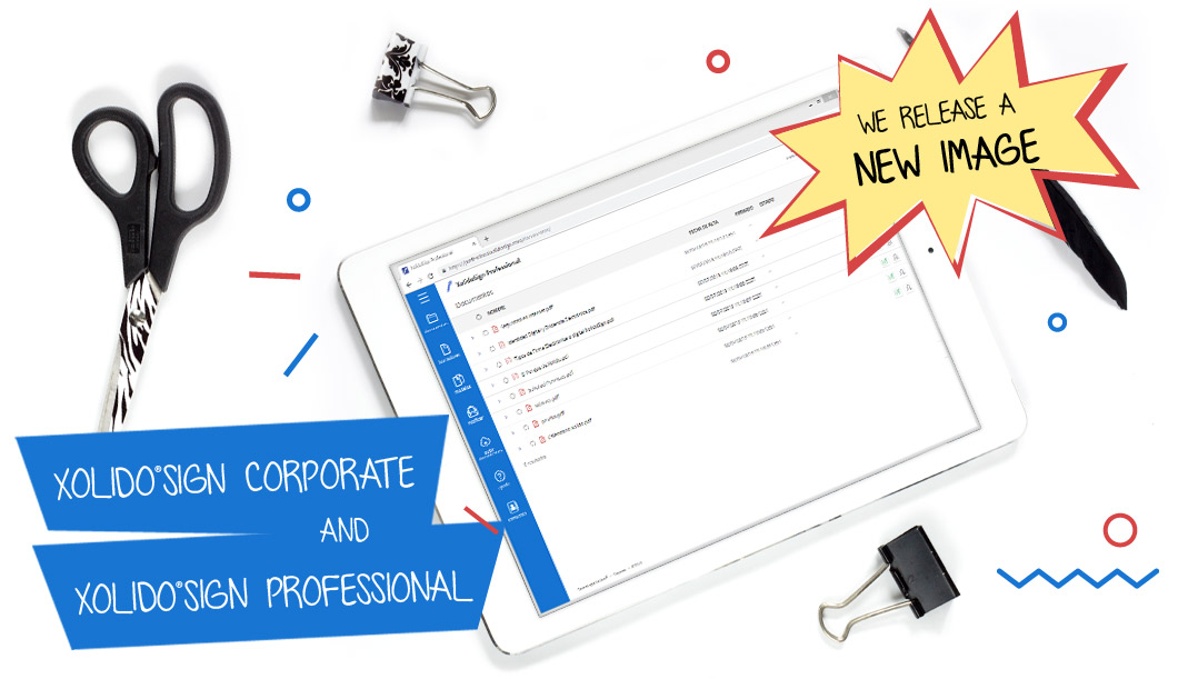 We release a new image, more modern and intuitive in Xolido®Sign Corporate and Xolido®Sign Professional!