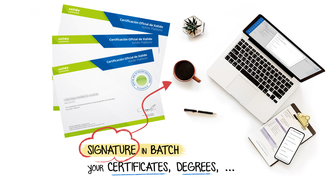 Signature in batch your certificates, degrees, ...