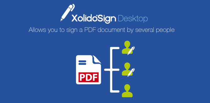 Xolido®Sign Desktop a PDF document can be signed by several persons consecutively