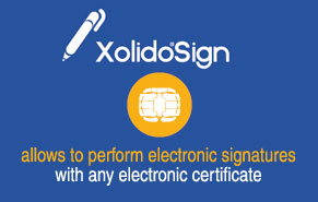 Xolido®Sign allows electronic signatures with any certificate